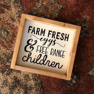Handmade farmhouse signs